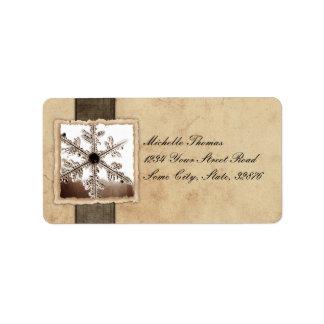 Black Snowflake Vintage Wedding Address