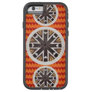 Black Snowflakes and Orange Chevron Tough Xtreme iPhone 6 Case
