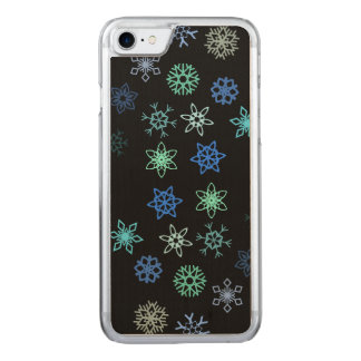 Black Snowflakes Flurry Pattern Carved iPhone 8/7 Case