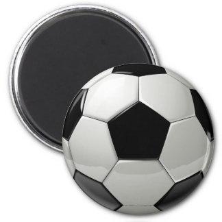 Black Soccer Ball Magnet