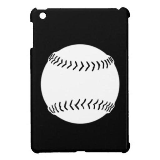 Black Softball Silhouette iPad Mini Case