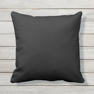 black solid color outdoor pillow