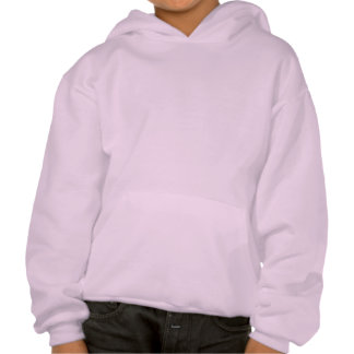 Black Spade Pattern Hooded Pullover