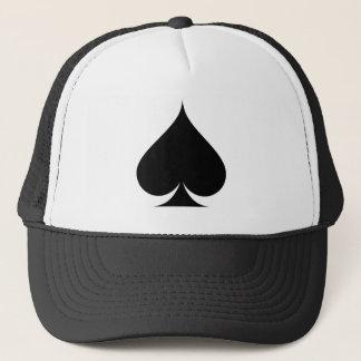 Black spade symbol trucker hat
