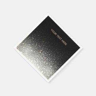 Black Sparkle Paper Napkins