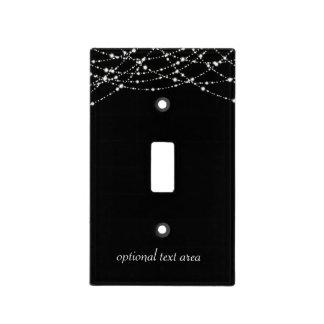 Black Sparkly Bling Glitter Light Switch Cover
