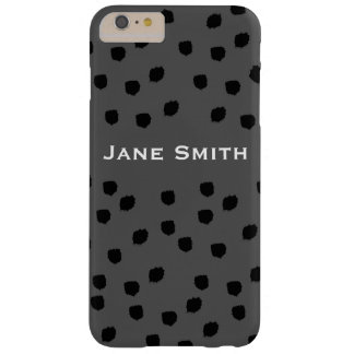 Black Speckled Pattern Barely There iPhone 6 Plus Case