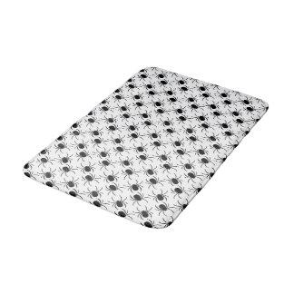 black spider halloween pattern bath mat