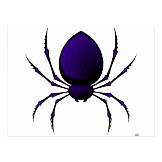 Black Spider Postcard