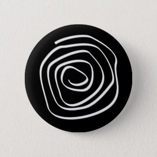 Black Spiral 2 Inch Round Button