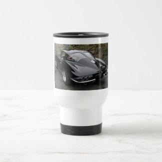 Black Split Window Classic Corvette Travel Mug