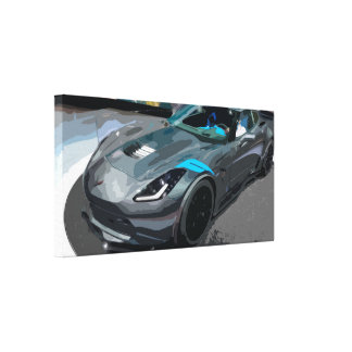 Black Sports Car Canvas