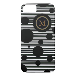 black spotted and striped personalized design iPhone 7 case