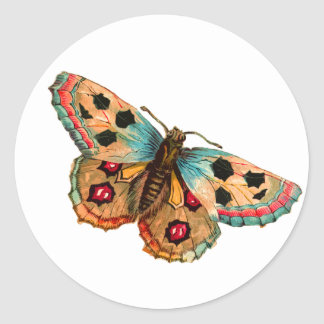 Black Spotted Butterfly Sticker