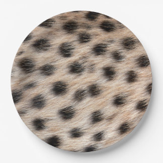 black spotted Cheetah fur or Skin Texture Template 9 Inch Paper Plate