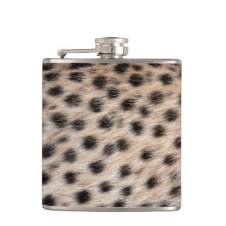 black spotted Cheetah fur or Skin Texture Template Flask