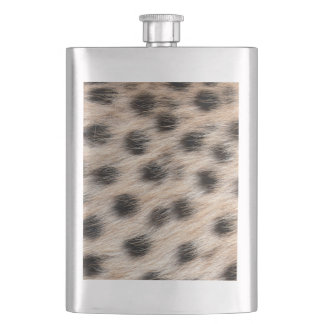 black spotted Cheetah fur or Skin Texture Template Flasks