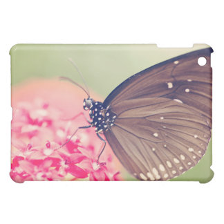 Black Spotted Crow Butterfly iPad Mini Covers