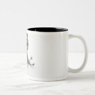 Black Spotted Green Poison Dart Frog Two-Tone Coffee Mug