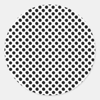Black Spotted Sheet Round Sticker