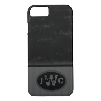 Black Spray over Gray | Your Initials iPhone 8/7 Case