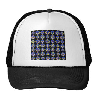 Black Square & Compass Trucker Hat