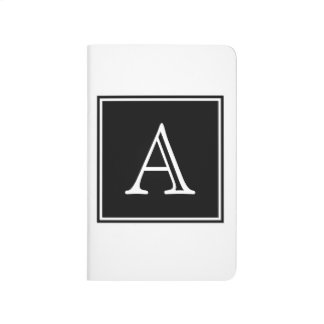 Black Square Monogram Pocket Journal
