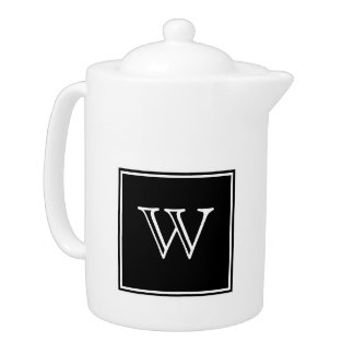 Black Square Monogram Teapot