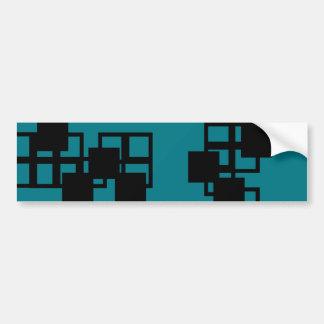 Black Square Sticker (Green) Bumper Sticker