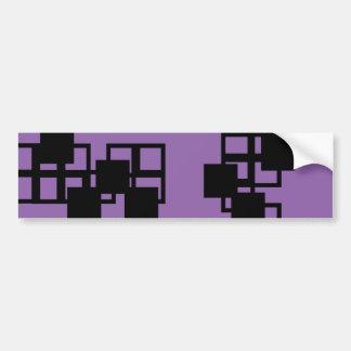Black Square Sticker (Purple) Bumper Sticker
