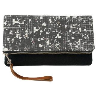 Black Squares Clutch Bag