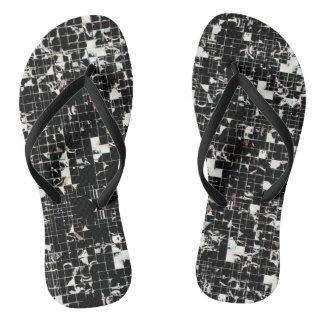 Black Squares Flip Flops