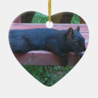 Black Squirrel Ceramic Ornament