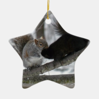 Black Squirrel Ceramic Ornament