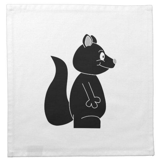 Black Squirrel. Cloth Napkin