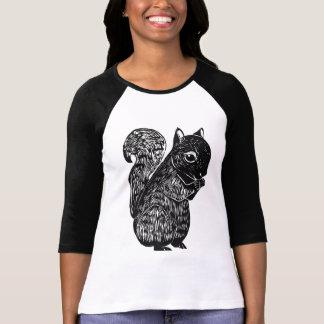 Black Squirrel Ladies Raglan T-Shirt