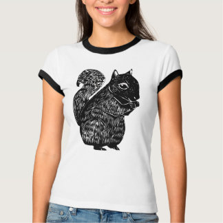 Black Squirrel Women's Melange Ringer T-Shirt