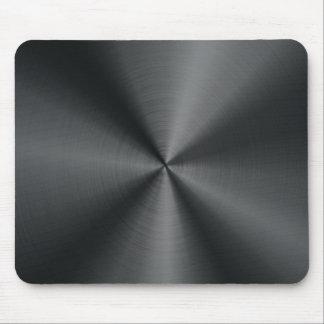 Black Stainless Steel Look Metal Pattern Mouse Pad