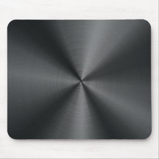 Black Stainless Steel Look Metal Pattern Mouse Pad Mousepad