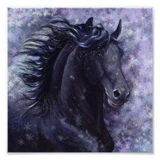 Black Stallion Mini Poster