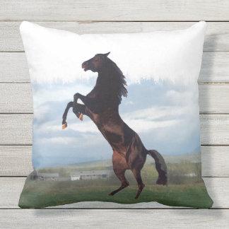 Black Stallion Throw Pillow