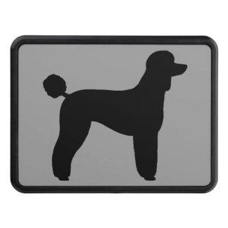 Black Standard Poodle Silhouette (Lamb Cut) Trailer Hitch Cover