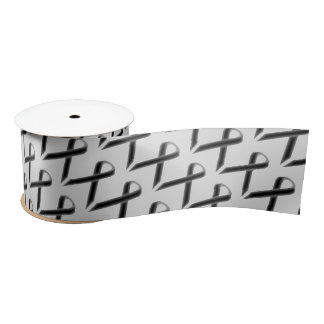 Black Standard Ribbon by Kenneth Yoncich Satin Ribbon