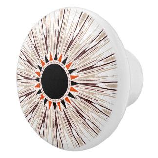 Black star ceramic knob