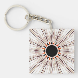 Black star Double-Sided square acrylic keychain