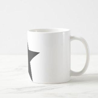 black star icon coffee mug