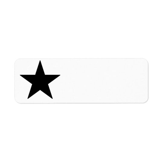 Black Star Label Return Address Label