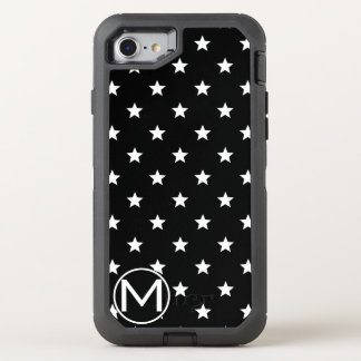 Black Star Monogram OtterBox Defender iPhone 8/7 Case