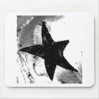 Black Star Mouse Pad