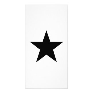Black Star Picture Card
